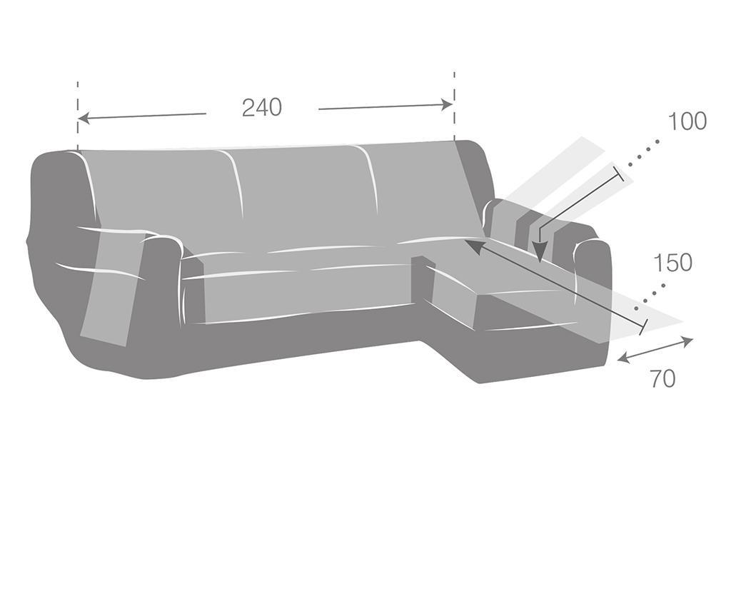 Калъф за десен ъглов диван Constanza Linen 240 см