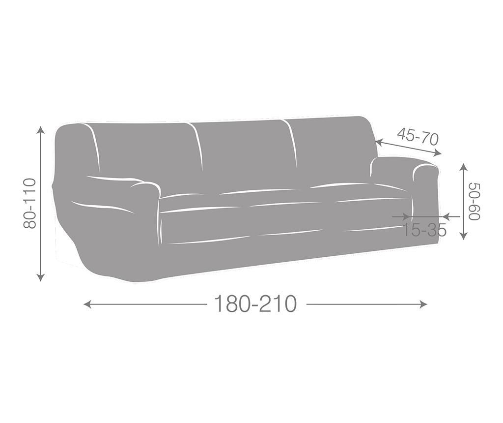 Dorian Dark Orange Gumis kanapé védőhuzat 180-210 cm