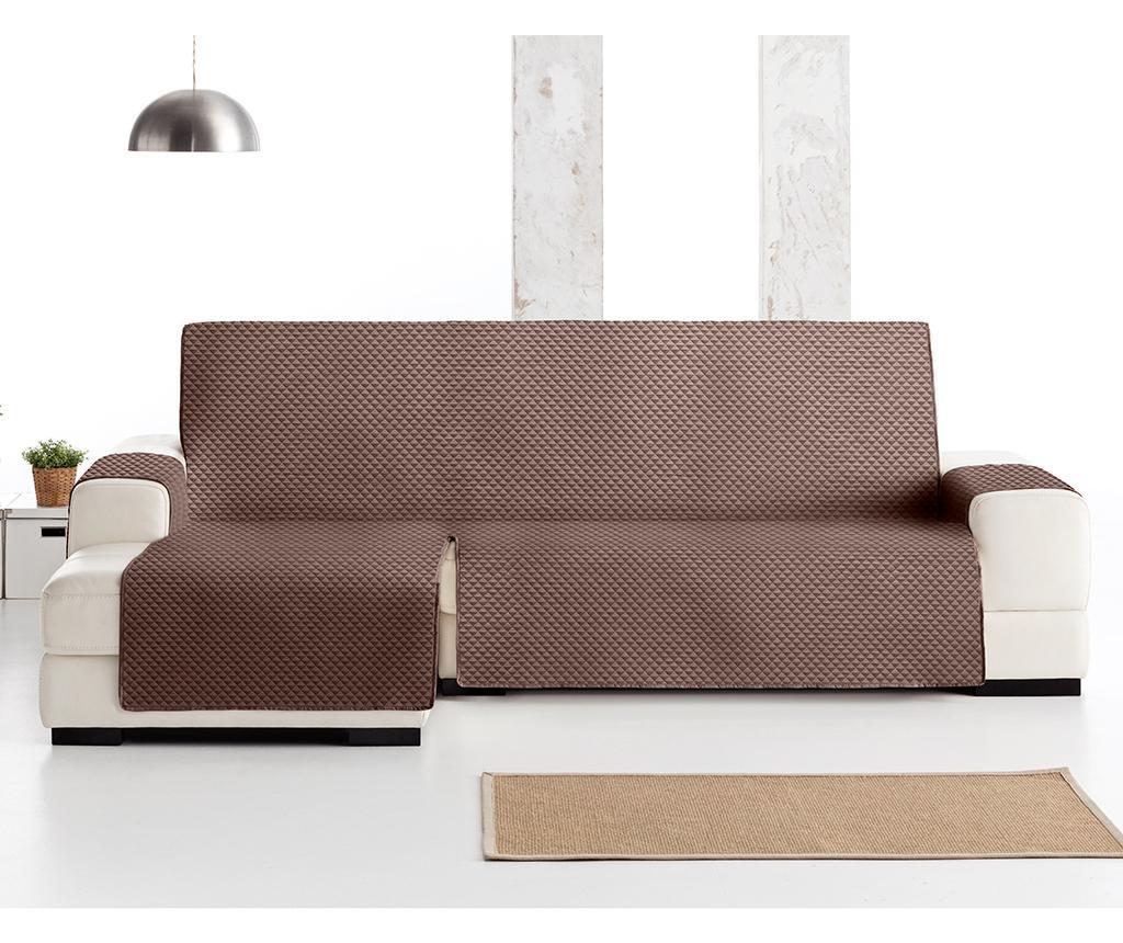 Ватиран калъф за ляв ъглов диван Oslo Brown 240 см