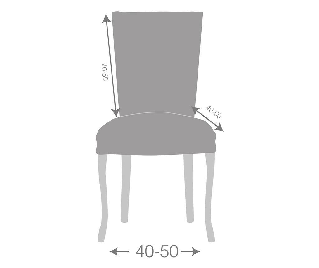 Set 2 huse elastice pentru scaun Teide Ecru