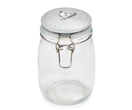 Farmers Kitchen Grey Befőttesüveg fedővel 1 L