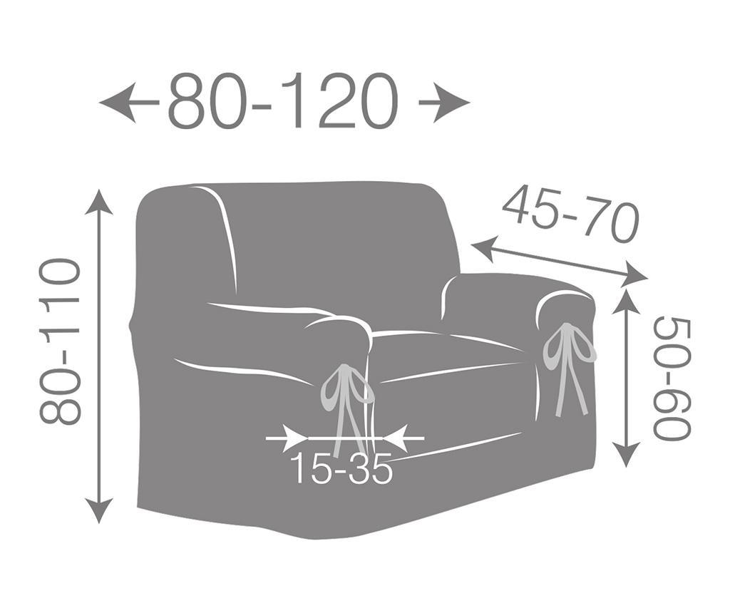 Регулируем калъф за фотьойл Paola Ecru Bows 80-120 см