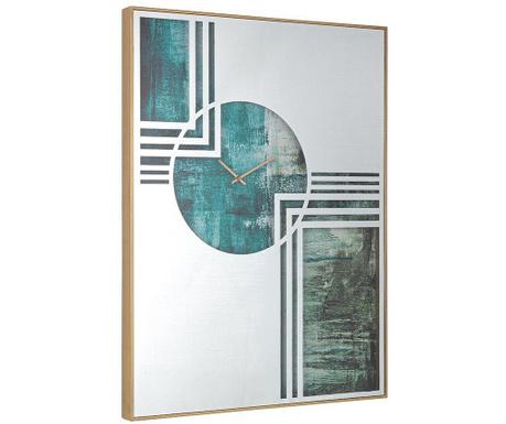 Картина с часовник Glace Green 60x80 см