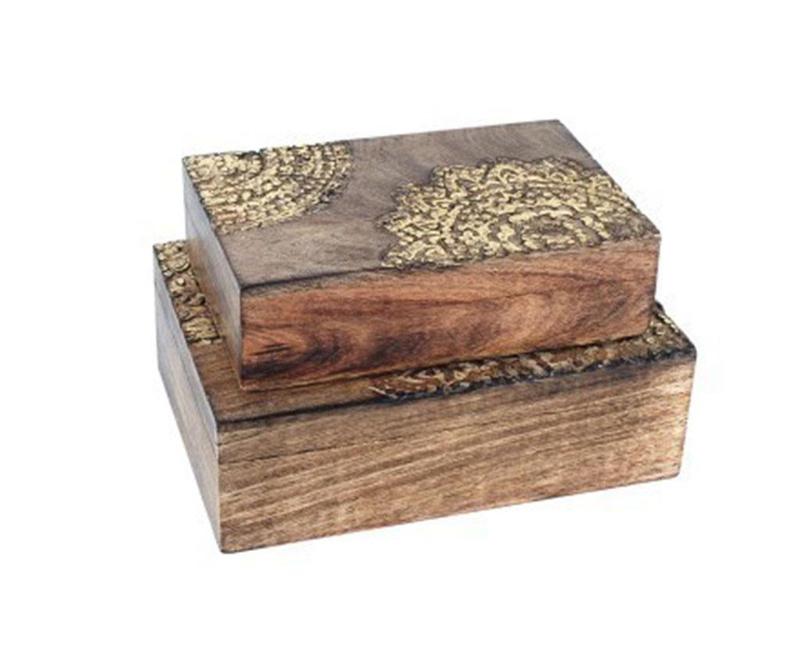 Set 2 kutije s poklopcem Acacia
