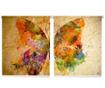 Set 2 rolo žaluzij Half Butterfly 100x200 cm