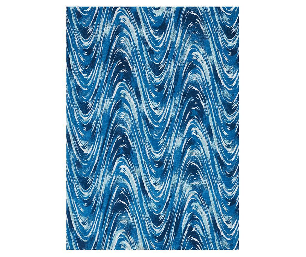 Waves Blue Dark Szőnyeg 69x229 cm
