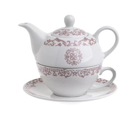 Комплект чайник с чашка и чинийка Allegro