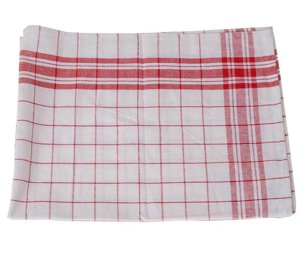 Set 6 kuhinjskih brisač Birton Red 50x72 cm