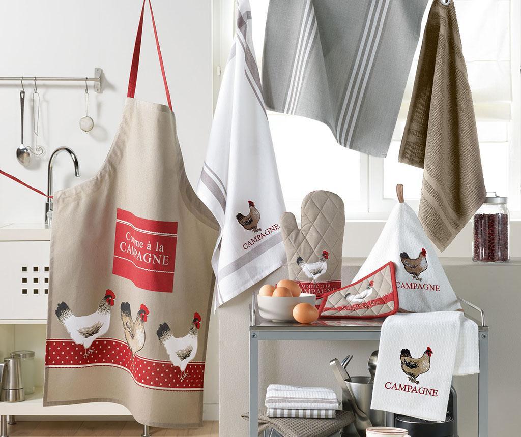 Set - kuhinjska rokavica in prijemalka za vročo posodo Campagne
