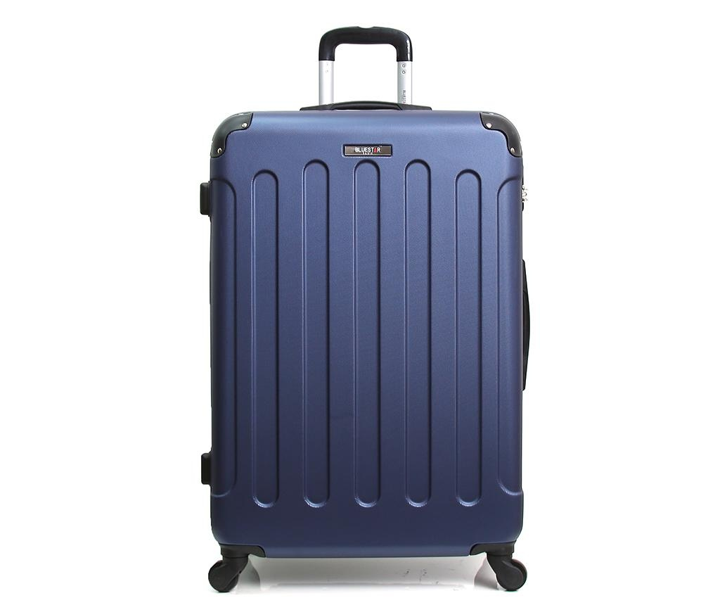 Madrid Navy Gurulós bőrönd 31 L