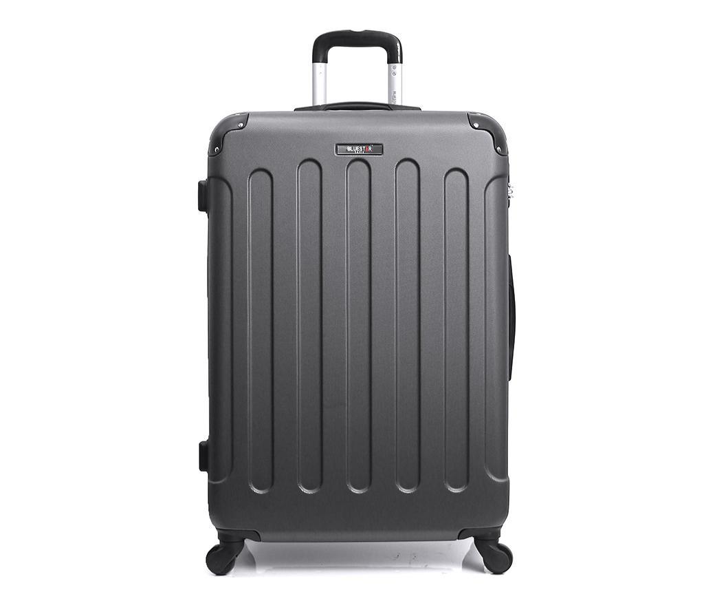 Madrid Dark Grey Gurulós bőrönd 91 L