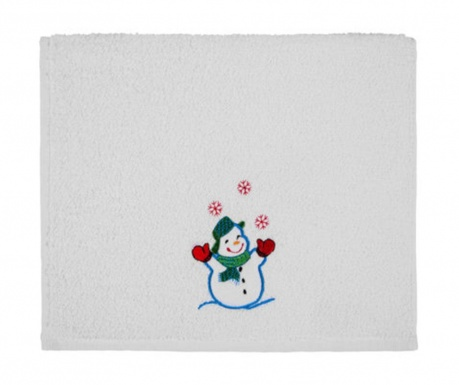 Recznik do twarzy Joyful Snowman 30x50 cm