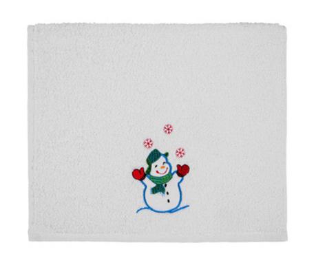 Kupaonski ručnik Joyful Snowman 30x50 cm