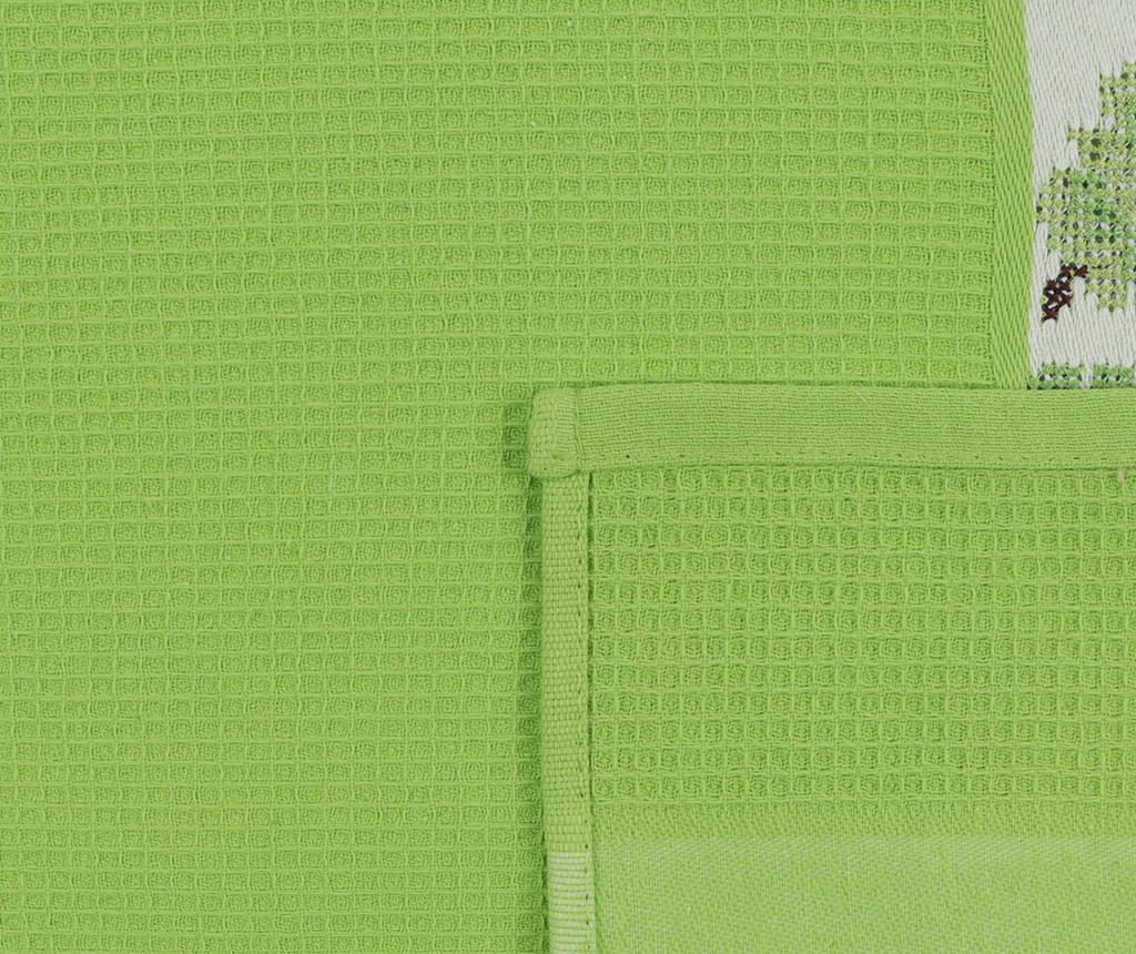 Set 6 prosoape de baie Pecetelik  Green 45x70 cm