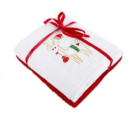 Zestaw 2 ręczników kąpielowych Happy White 50x90  cm