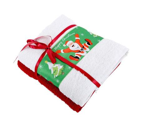 Set 2 kupaonska ručnika Jump White 50x90 cm