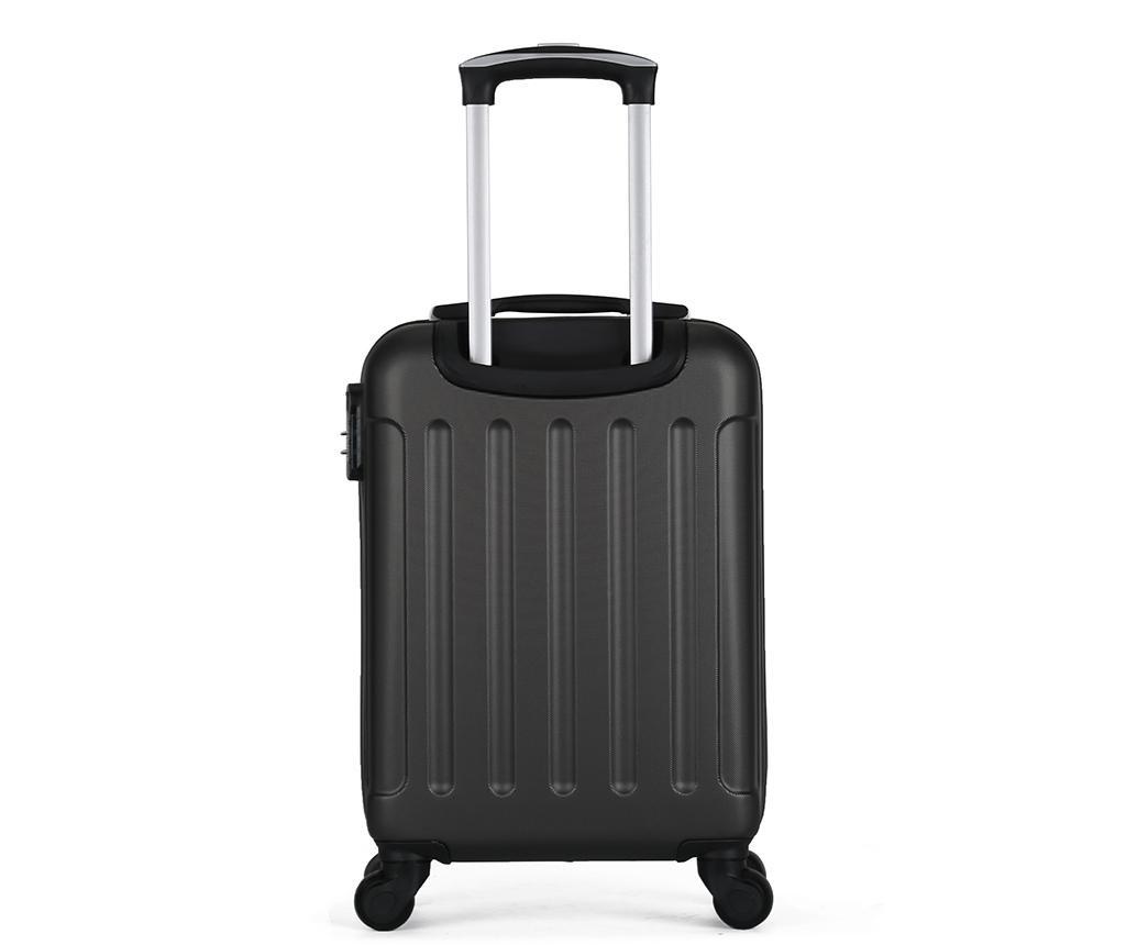 Madrid Dark Grey Gurulós bőrönd 32 L