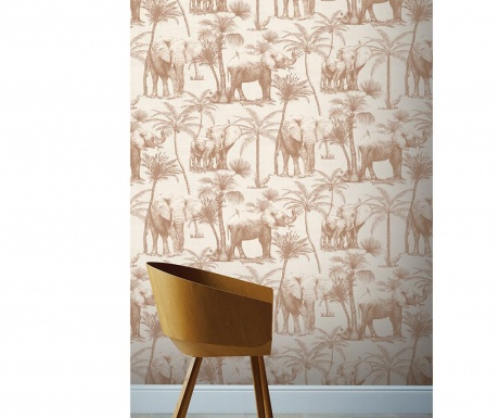 Tapeta Elephant Grove Coffee 53x1005 cm