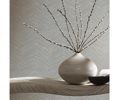 Stenska tapeta Arrow Weave Charcoal 53x1005 cm