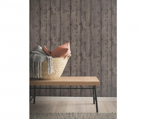 Stenska tapeta Mahogany Wood Plank 53x1005 cm