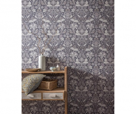Tapeta Folk Floral Grey 53x1005 cm
