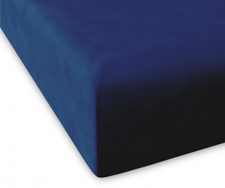 Долен чаршаф с ластик Casual High Navy 100x200 см