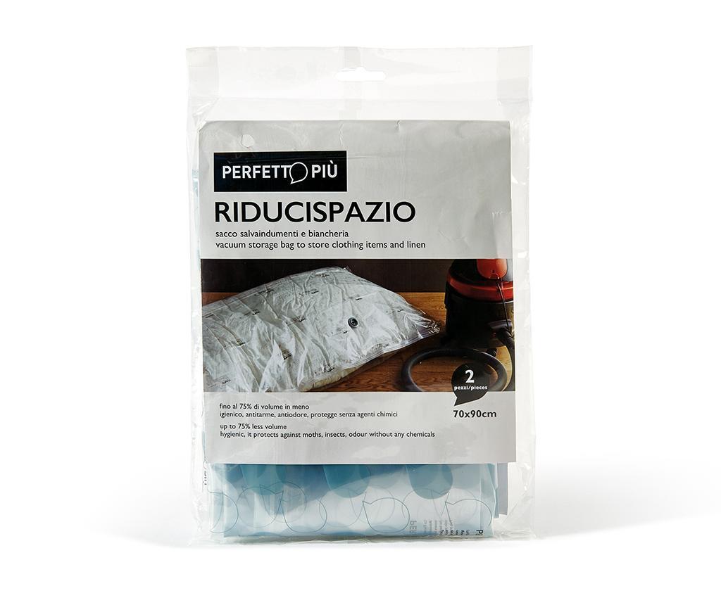 Set 2 vakuumsko tesnilnih vreč Riducispazio Blue 70x90 cm