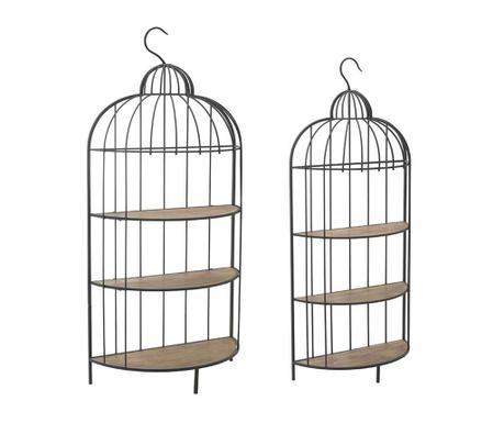 Zestaw 2 półek ściennych Cage