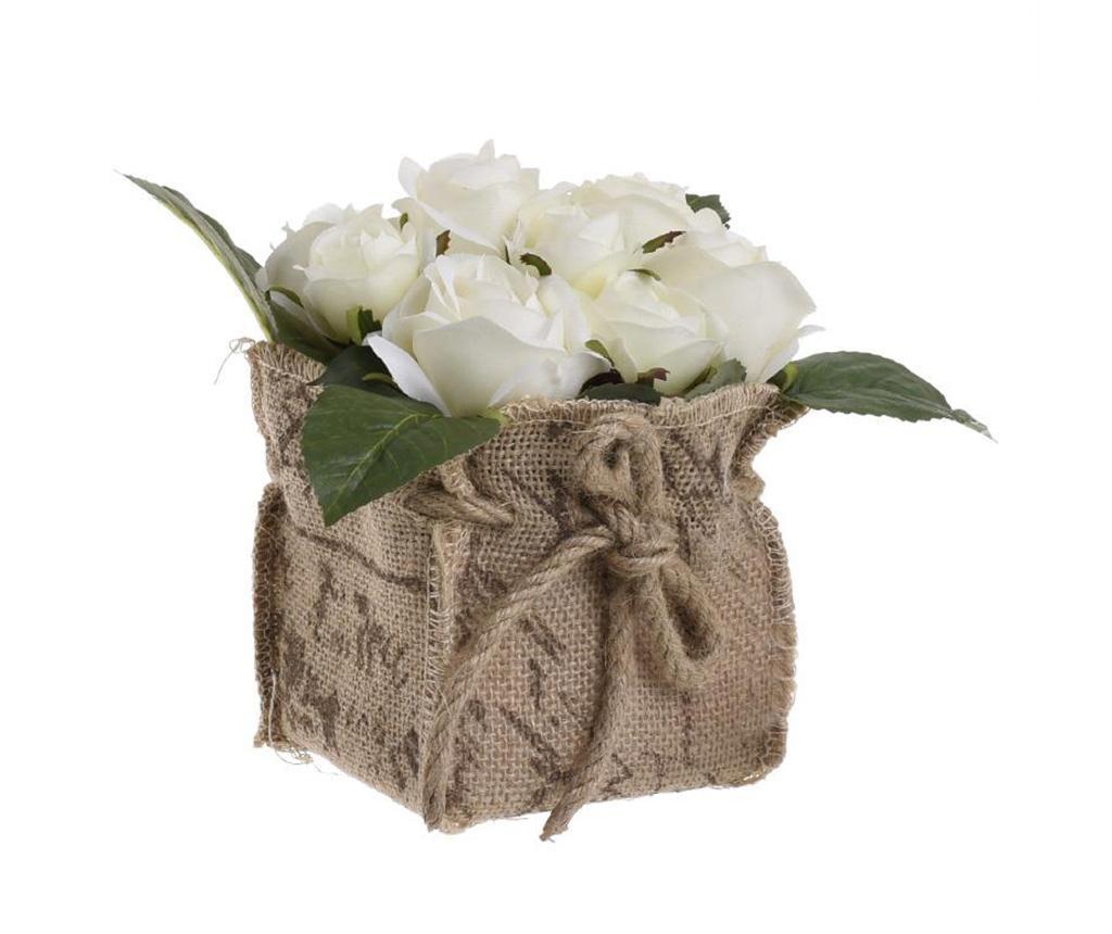 Umelá kvetina v kvetináči Cremaia