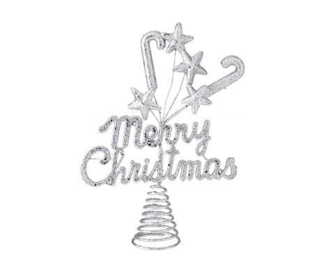 Κορυφή ελάτου Merry Christmas Silver