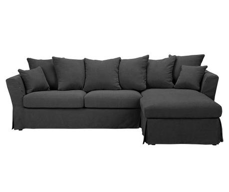 Разтегателен десен ъглов диван Helene Dark Grey