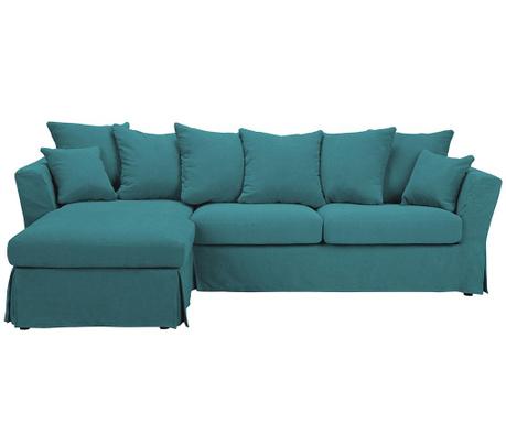 Разтегателен ляв ъглов диван Helene Turquoise