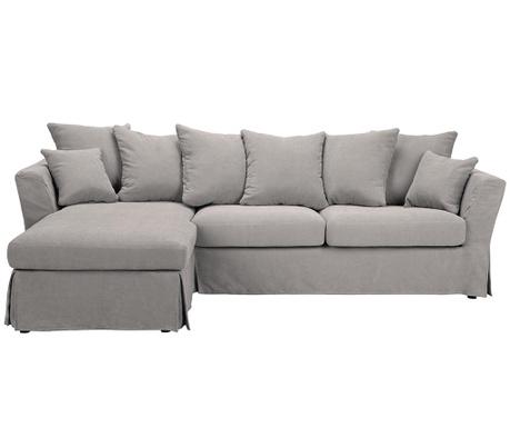 Разтегателен ляв ъглов диван Helene Light Grey