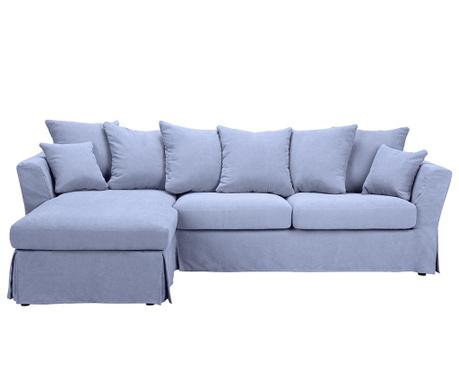 Разтегателен ляв ъглов диван Helene Blue