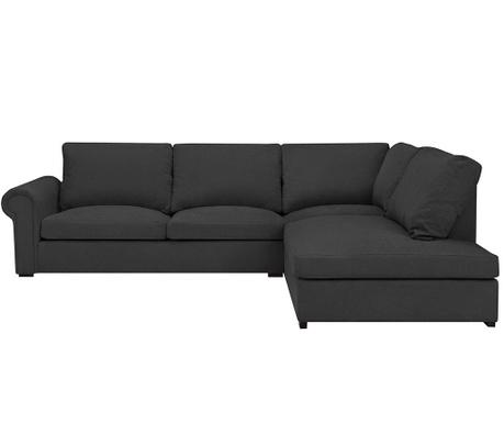Десен ъглов диван Antoine Dark Grey