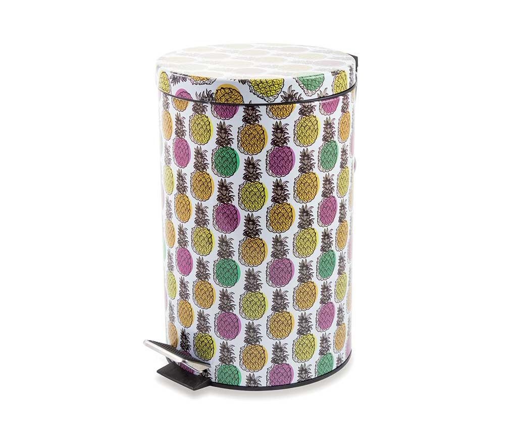 Cos de gunoi cu capac si pedala Pineapple 12 L
