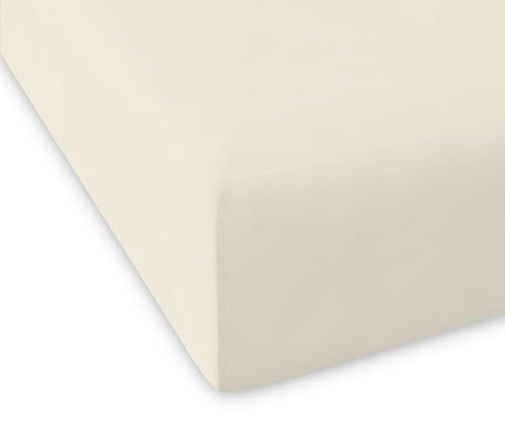 Долен чаршаф с ластик Casual High Ivory 100x200 см
