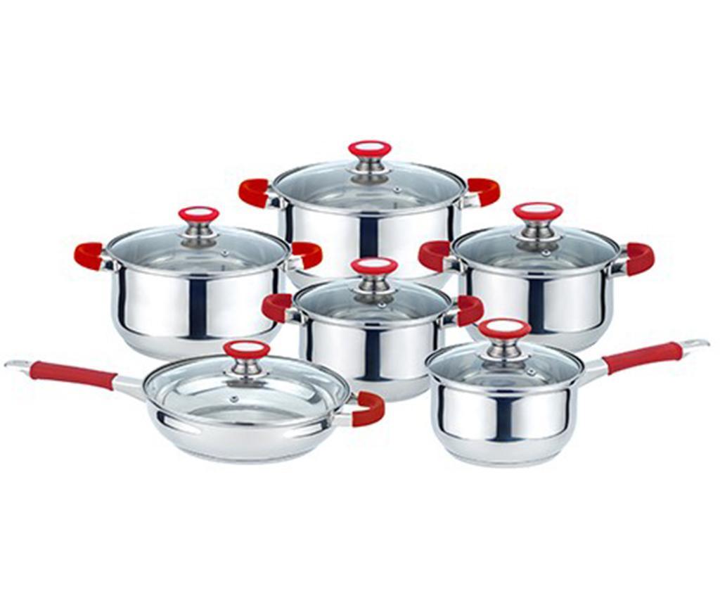 Set vase pentru gatit 12 piese Muhler Red