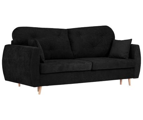 Canapea extensibila 3 locuri Viola Black