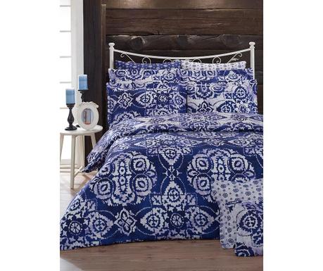Komplet pościeli King Ranforce Batik Blue