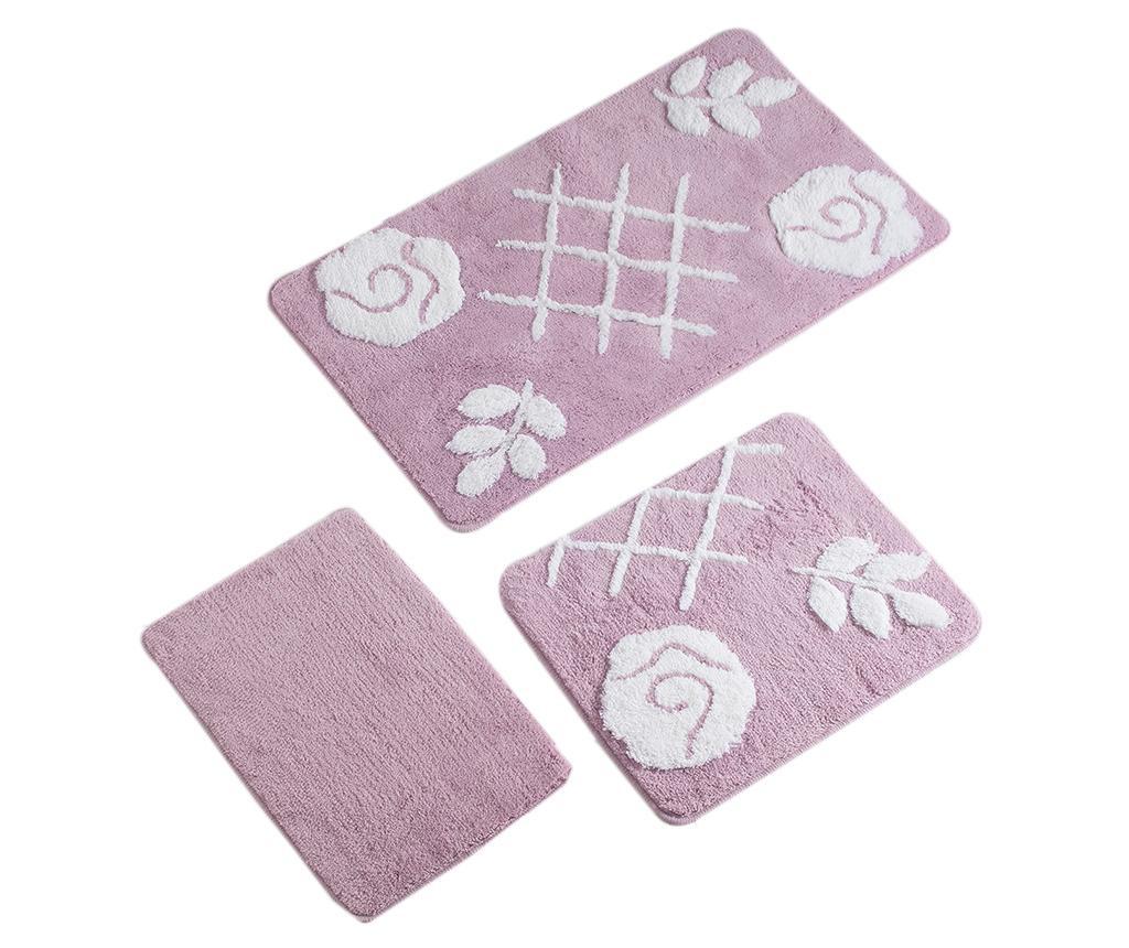 Set 3 covorase de baie Pastel Lilac