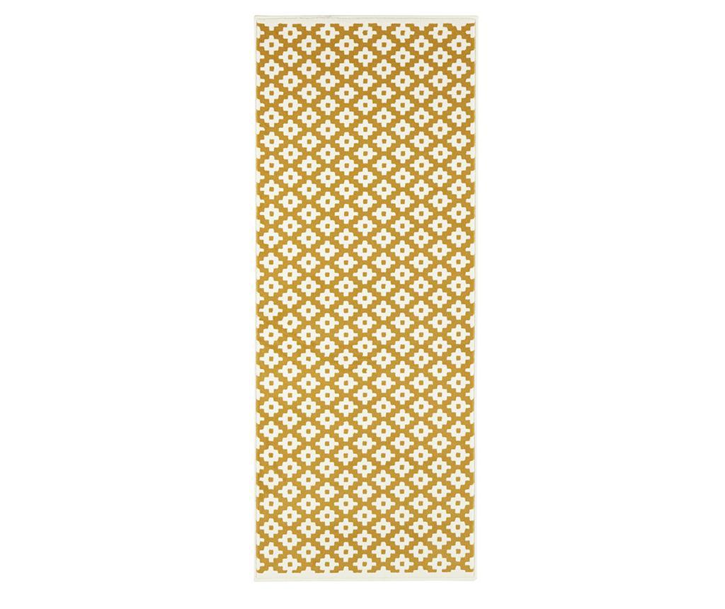 Covor Lattice Gold Cream 80x150 cm