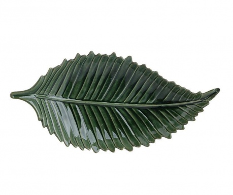 Platou decorativ Leaf Green