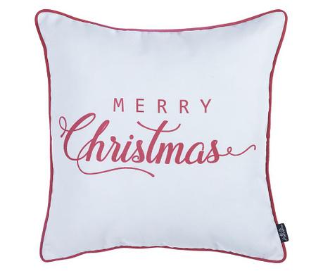 Fata de perna Merry Christmas White 45x45 cm