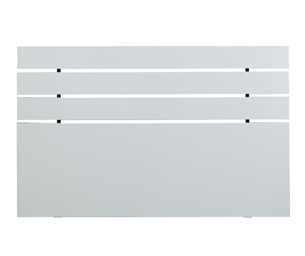 Posteljno vzglavje Fuga Shiny White 100x140 cm
