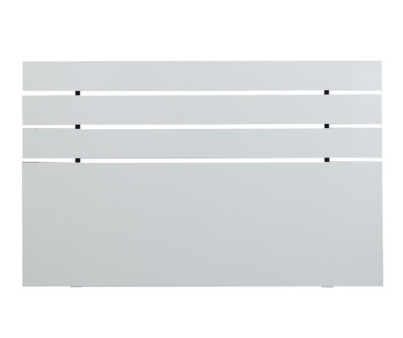 Tablie de pat Fuga Shiny White 100x180 cm