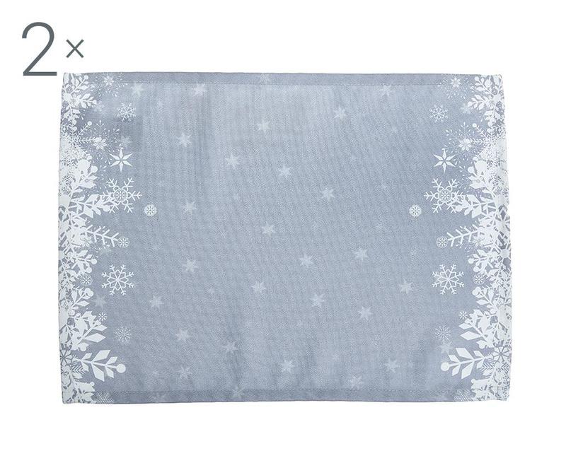 Set 2 podmetača Kizzy Grey 33x45 cm