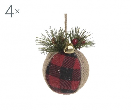 Set 4 decoratiuni suspendabile Festive Ball Kery