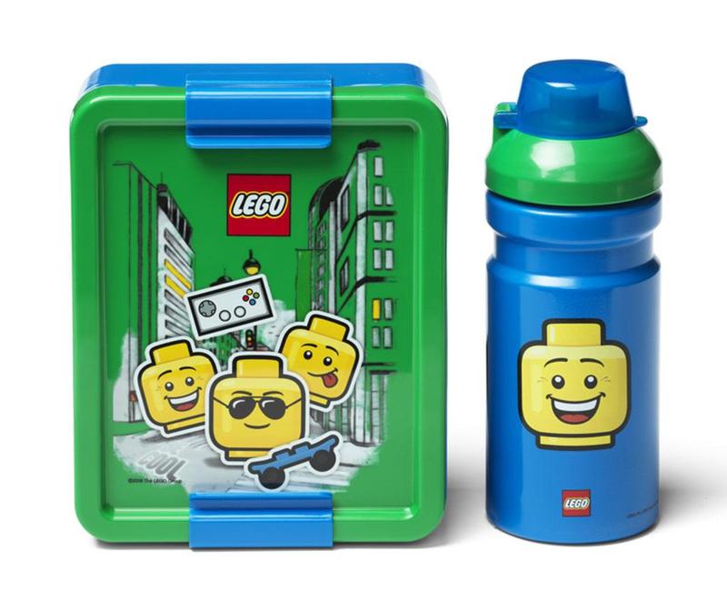 Set cutie pentru pranz si sticla sport Blue Boy