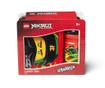 Set škatla za kosilo in športna plastenka Ninjago Red and Black